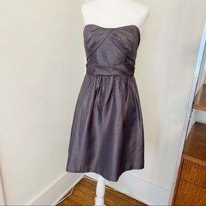 Jenny Yoo Dupioni Strapless Cocktail Dress 8 6 4